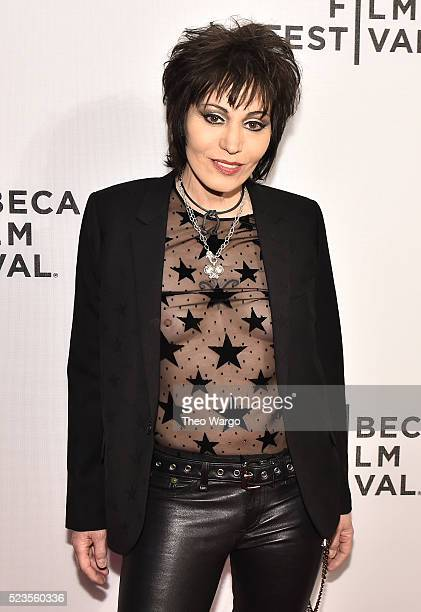 "Joan Jett attends ""Geezer"" Premiere - 2016 Tribeca Film Festival at Spring Studios on April 23, 2016 in New York City."