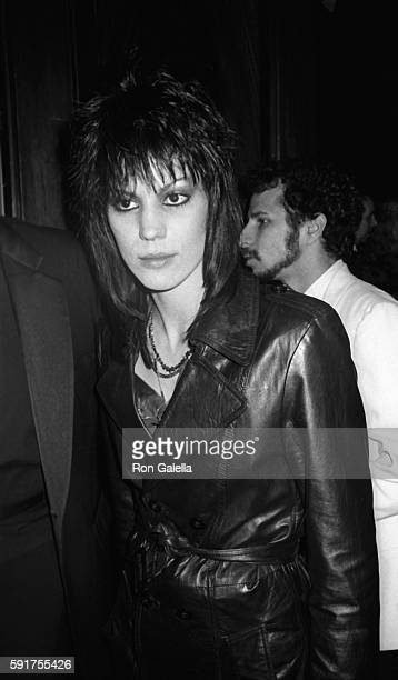 Joan Jett attends Reflex Press Party on Februry 6 1984 at Capitol Records in New York City