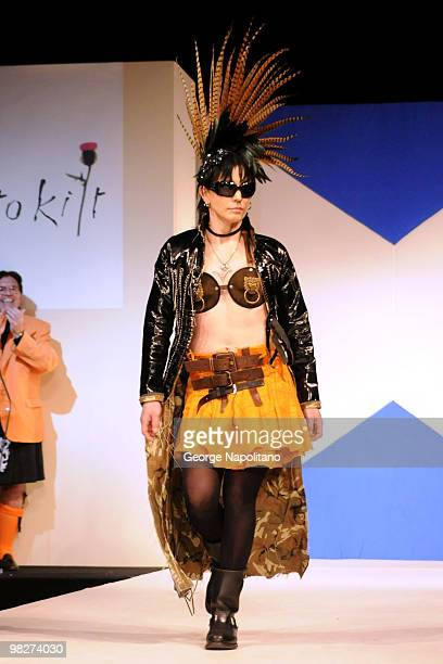Joan Jett attends the 8th annual Dressed To Kilt Charity Fashion Show at M2 Ultra Lounge on April 5 2010 in New York City