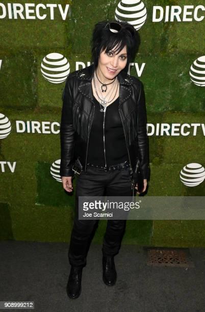 "Joan Jett attends the ""Bad Reputation"" dinner at DIRECTV Lodge presented by ATT during Sundance Film Festival 2018 on January 22 2018 in Park City..."