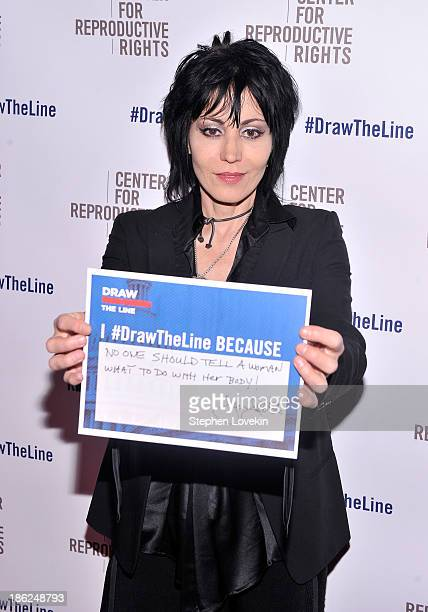 Joan Jett attends the Center for Reproductive Rights 2013 Gala at Jazz at Lincoln Center on October 29 2013 in New York City