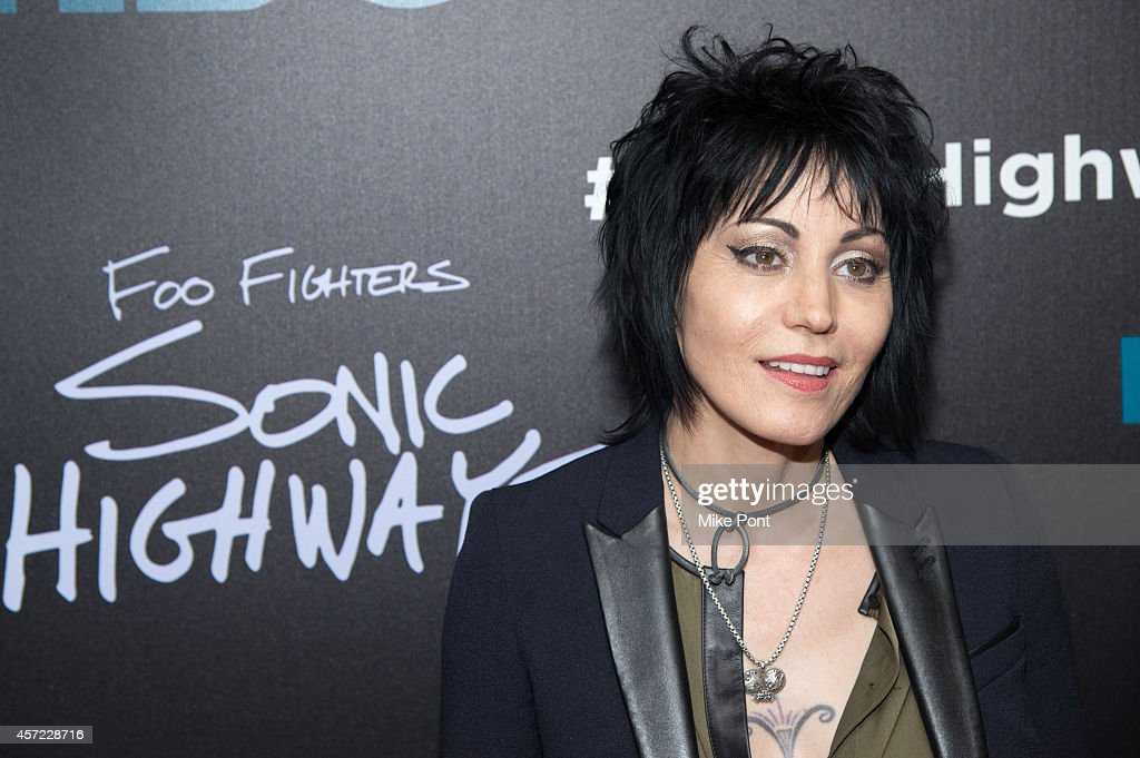 Joan Jett attends the 'Foo Fighters: Sonic Highways' New York Premiere at Ed Sullivan Theater on October 14, 2014 in New York City.