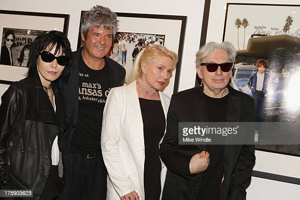 Joan Jett Clem Burke Debbie Harry and Chris Stein attend the 'Hell In The City Of Angels Chris Stein' photo exhibition opening at Morrison Hotel...