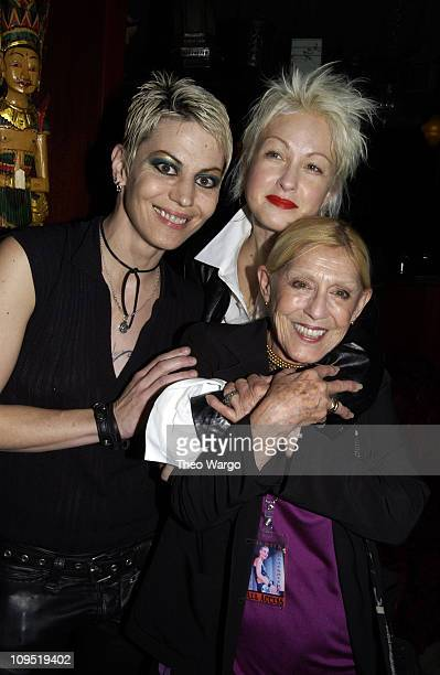 Joan Jett Cyndi Lauper and Sandra Lee during Steve Madden's 'FFANY' Party with Performance by Joan Jett at China Club in New York City New York...