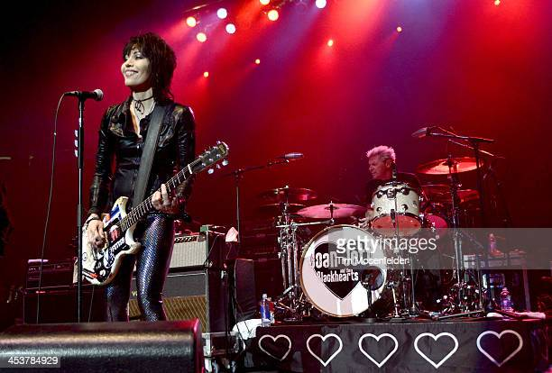 Joan Jett of Joan Jett and the Blackhearts performs as part of Radio 947's Electric Christmas at Sleep Train Arena on December 4 2013 in Sacramento...