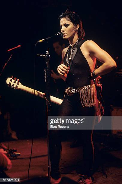 Joan Jett performing at CBGB's in New York City on December 17 1993
