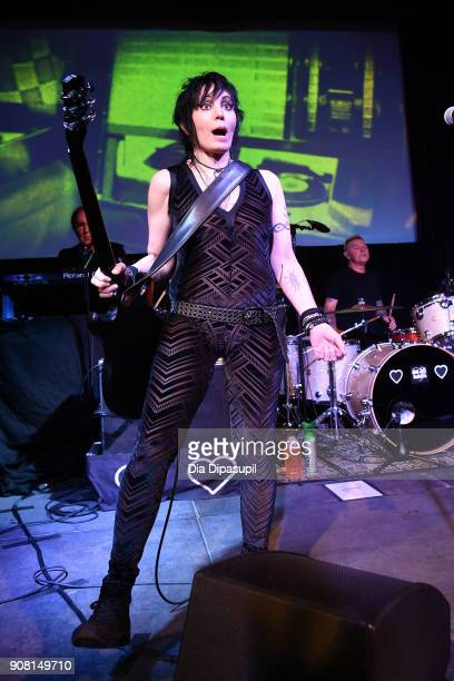 Joan Jett performs at the Celebration Of Music And Film during 2018 Sundance Film Festival at The Shop on January 20 2018 in Park City Utah