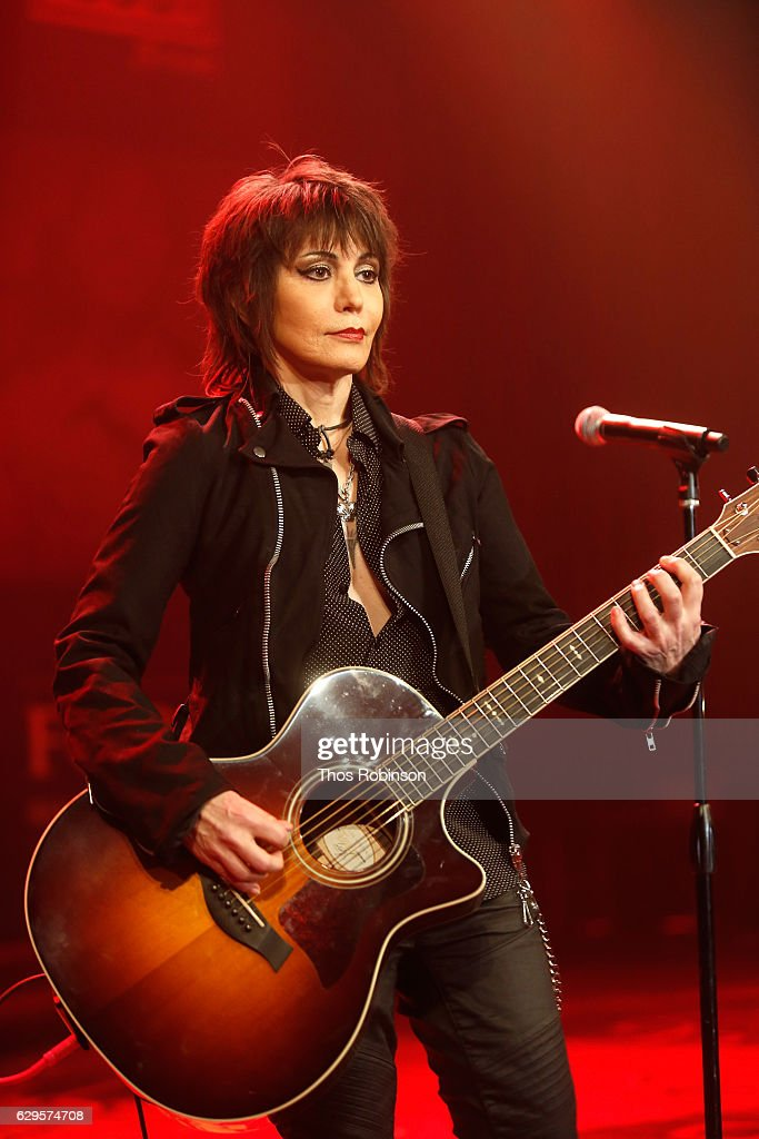 Joan Jett performs onstage at the USO 75th Anniversary Armed Forces Gala & Gold Medal Dinner at Marriott Marquis Times Square on December 13, 2016 in New York City.
