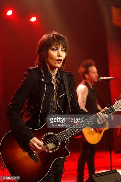 Joan Jett performs onstage at the USO 75th Anniversary Armed Forces Gala Gold Medal Dinner at Marriott Marquis Times Square on December 13 2016 in...