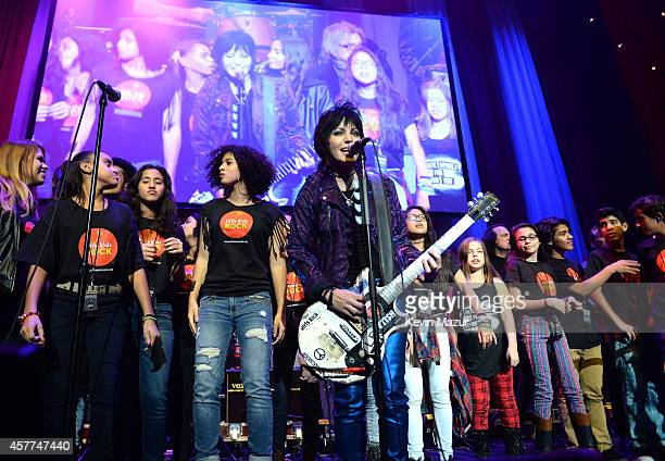 Joan Jett performs onstage during The 6th Annual Little Kids Rock Benefit at Hammerstein Ballroom on October 23 2014 in New York City