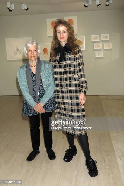 Joan Jonas and Stefanie Hessler during the conference presenting the exhibition Moving Off the Land II at the ThyssenBornemisza National Museum on...
