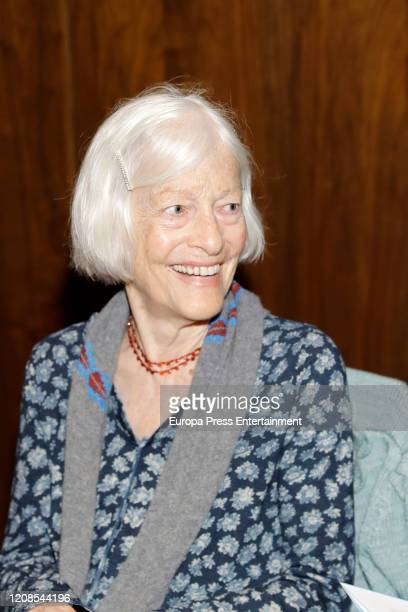 Joan Jonas during the conference presenting the exhibition Moving Off the Land II at the ThyssenBornemisza National Museum on February 25 2020 in...