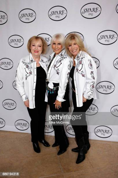 Joan Kardashian Ellen Feder and Anita Mann Kohl pose for a photo before the 64th Annual Boomtown 2017 Gala Let's Dance at The Beverly Hilton Hotel on...