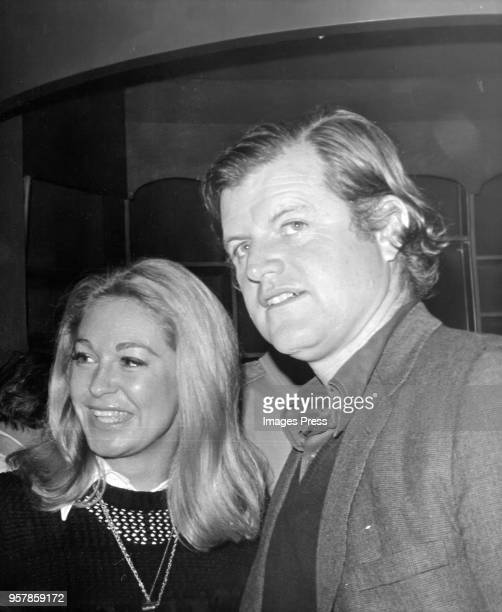 Joan Kennedy and Ted Kennedy at a Christmas party for Brooklyn children at Rockefeller Center on December 16 1972 in New York City