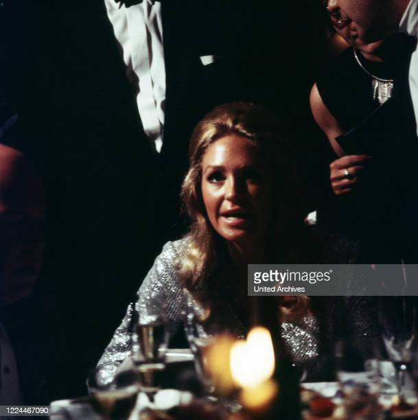 Joan Kennedy wife of American senator Edward Ted Kennedy at a soiree while visiting Bonn Germany 1971