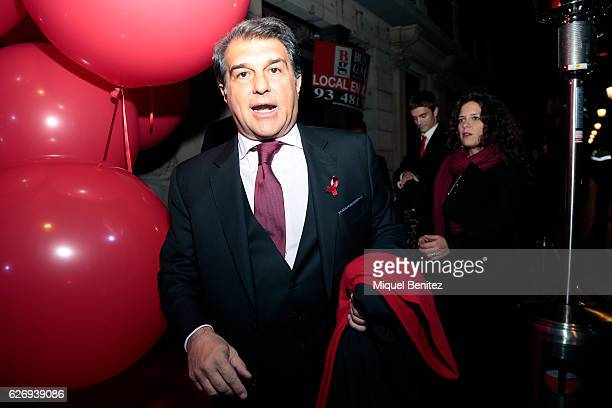 Joan Laporta attends 'People in Red' charity event investigation against Aids Sida Gala on November 30 2016 in Barcelona Spain