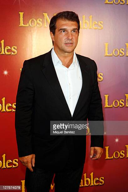 Joan Laporta attends the premiere of 'Los Miserables' at the Barcelona Teatre Municipal on September 29 2011 in Barcelona Spain