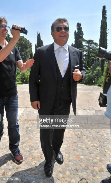 Joan Laporta attends the wedding of the goalkeeper Victor Valdes and Yolanda Cardona on June 9 2017 in Barcelona Spain