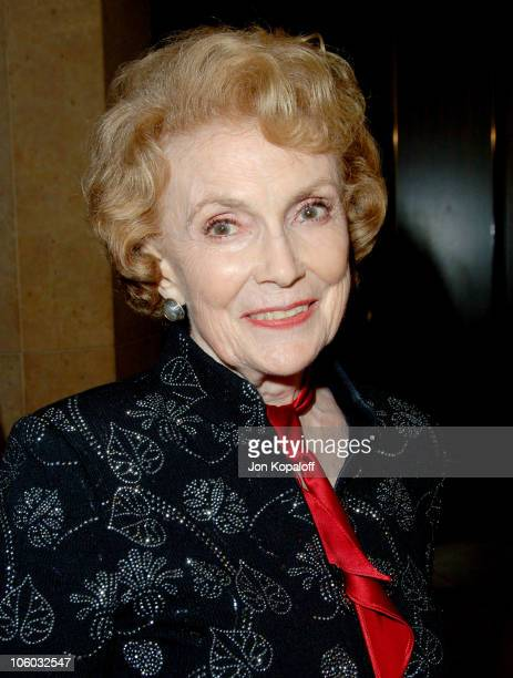 Joan Leslie during The Motion Picture and Television Fund's 24th Golden Boot Awards Arrivals at The Beverly Hilton Hotel in Beverly Hills California...
