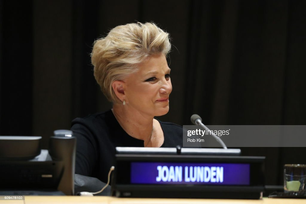 Joan Lunden attends International Women's Day The Role of Media To Empower Women Panel Discussion at the United Nations on March 8, 2018 in New York City.