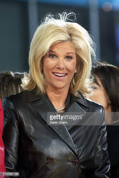 Joan Lunden during Carlos Santana Michelle Branch perform on Good Morning America November 3 2005 at Time Square in New York City New York United...