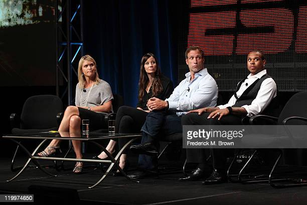 Joan Lynch VP Content Development ESPN TV personality Deanne Bell ESPN college football analyst Chris Spielman and professional basketball player...