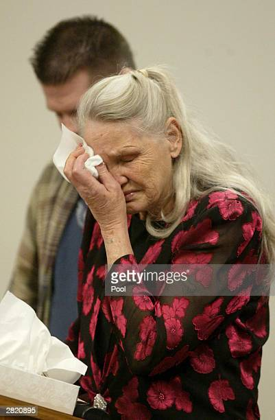 Joan Mackie mother of Green River Killer victim Cindy Smith at the sentencing of Gary Ridgway in King County Washington Superior Court December 18...