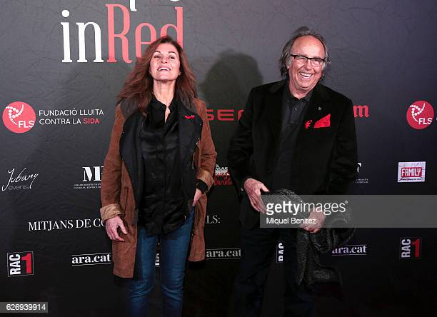 JOan Manel Serrat and Candela Tiffon attend 'People in Red' charity event investigation against Aids Sida Gala on November 30 2016 in Barcelona Spain