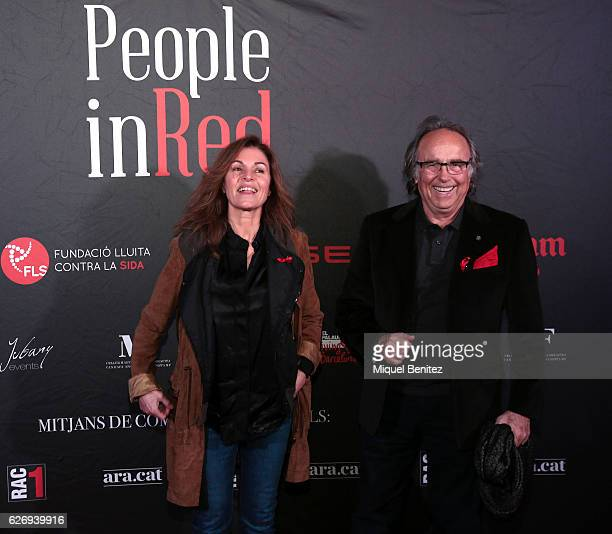 JOan Manel Serrat and Candela Tiffon attend 'People in Red' charity event investigation against Aids, Sida Gala on November 30, 2016 in Barcelona,...