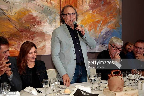 Joan Manel Serrat and Candela Tiffon attend the 'Christa Leem Awards' on October 13 2014 in Barcelona Spain