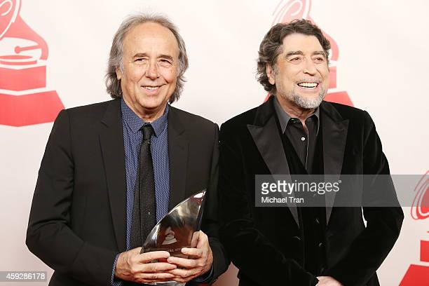 Joan Manuel Serrat and Joaquin Sabina arrive at the 2014 Person of the Year honoring Joan Manuel Serrat held at The Mandalay Bay Resort and Casino at...