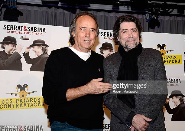 Joan Manuel Serrat and Joaquin Sabina present their new album 'La Orquesta del Titanic' at the Sociedad General de Autores y Editores SGAE offices on...