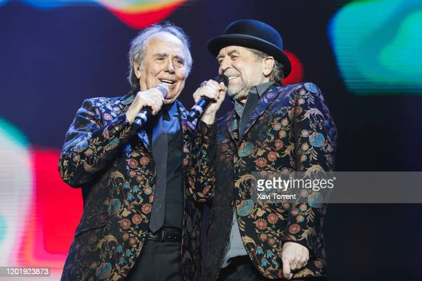 Joan Manuel Serrat and Joaquín Sabina perform in concert at Palau Sant Jordi on January 25 2020 in Barcelona Spain