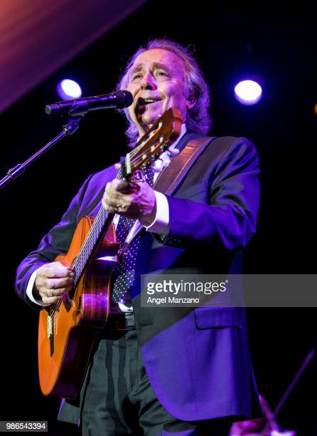 Joan Manuel Serrat performs in concert at Las Noches del Botanico festival on June 26 2018 in Madrid Spain