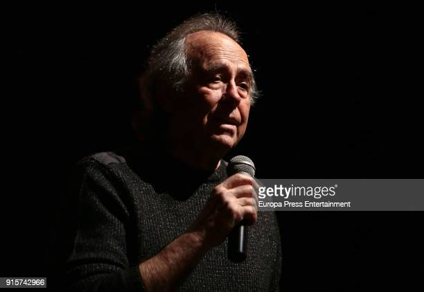 Joan Manuel Serrat presents 'Mediterraneo da capo' at Circulo de Bellas Artes on February 8 2018 in Madrid Spain