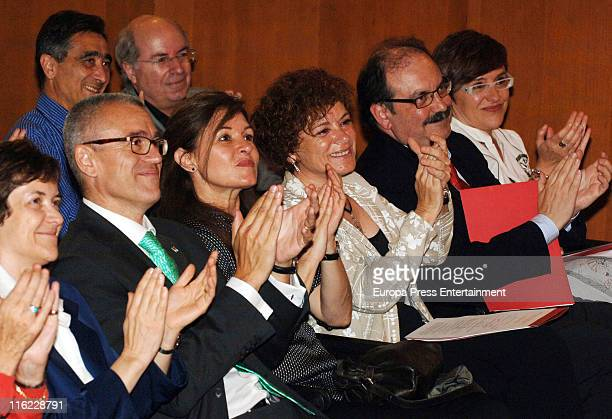 Joan Manuel Serrat's wife Candela Tiffon attends the ceremony of Doctor Honoris Causa Degree from Pompeu Fabra university to Joan Manuel Serrat on...