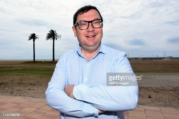 EL VENDRELL TARRAGONA SPAIN Joan Maria Diu candidate from the political group Convergents for the mayor of El Vendrell Tarragona Spain