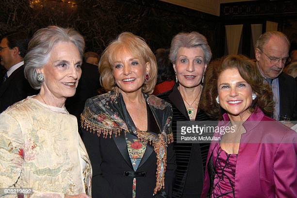 Joan Marks Barbara Walters Marcia Schloss and Tovah Feldshuh attend CURTAIN UP Celebrating SARAH LAWRENCE COLLEGE Retiring President MICHELE MYERS at...