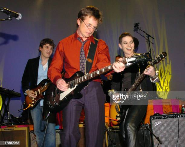 Joan Mayer Michael J Fox and Joan Jett during 'A Funny Thing Happened on the Way to Cure Parkinson's' A Benefit Evening for the Michael J Fox...