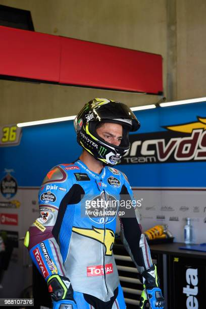 Joan Mir of Spain and EG 00 Marc VDS starts from box during the Qualifying practice during the MotoGP Netherlands Qualifying on June 30 2018 in Assen...