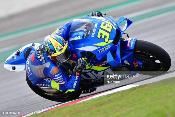 Joan MIR of Spain and Team SUZUKI ECSTAR during day one MotoGP Official Test Sepang 2020 at Sepang International Circuit on February 7 , 2020 in...