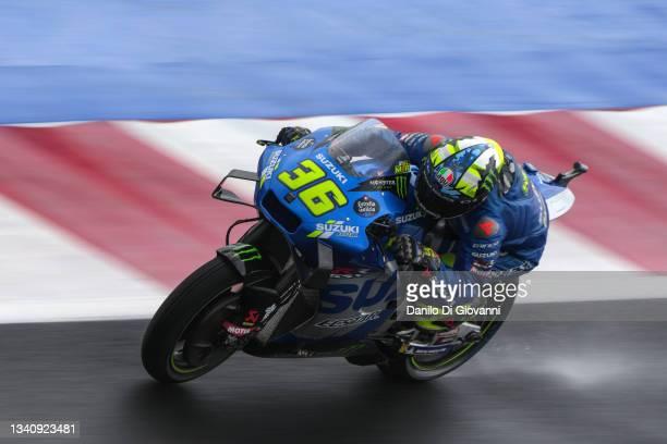 Joan Mir of Spain and Team Suzuki Ecstar during the Free Practice 2 of Gran Premio OCTO di San Marino e della Riviera di Rimini at Misano World...