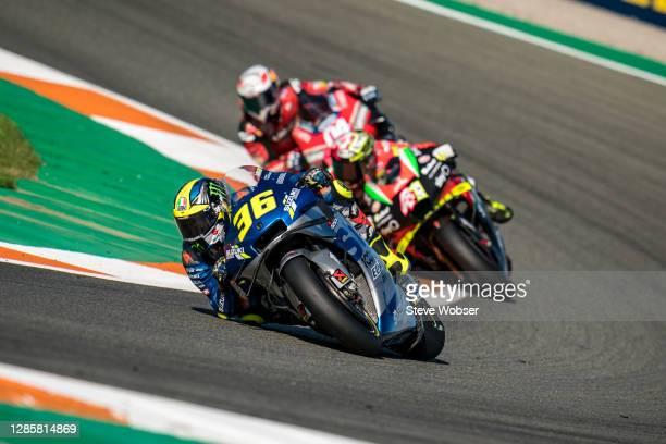 Joan Mir of Spain and Team SUZUKI ECSTAR on his way to his first world championship during the MotoGP of Comunitat Valenciana at Comunitat Valenciana...