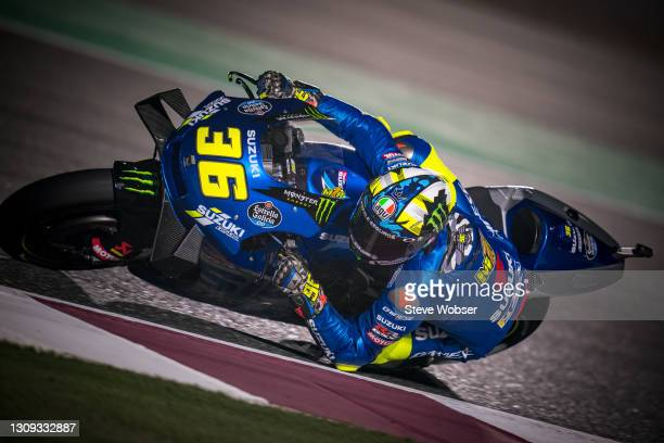 Joan Mir of Spain and Team SUZUKI ECSTAR rides at Losail Circuit on March 26, 2021 in Doha, Qatar.