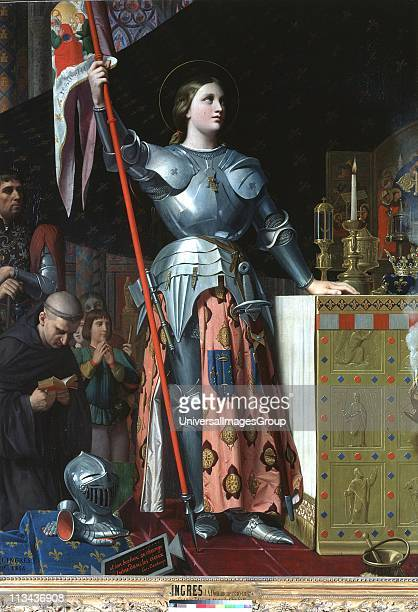 Joan of Arc at the Coronation of Charles VII in the Cathedral at Reims Jean Auguste Dominique Ingres French Classical painter Oil on canvas Louvre...