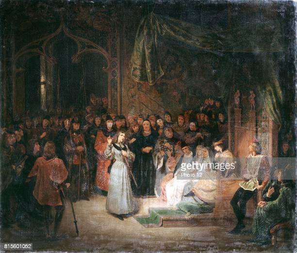 Joan of Arc before King Charles VII at Chinon replies to the prelates who are interrogating her February 1429' St Joan Maid of Orleans French patriot...