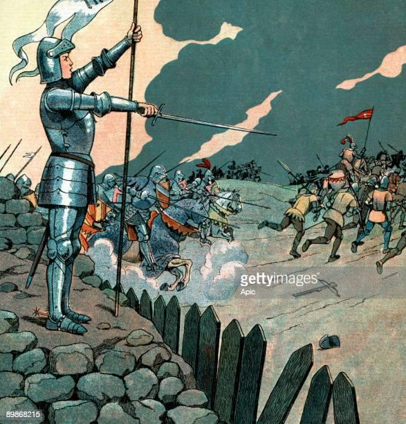 Joan of Arc delivering Orleans France illustration by Job 1930