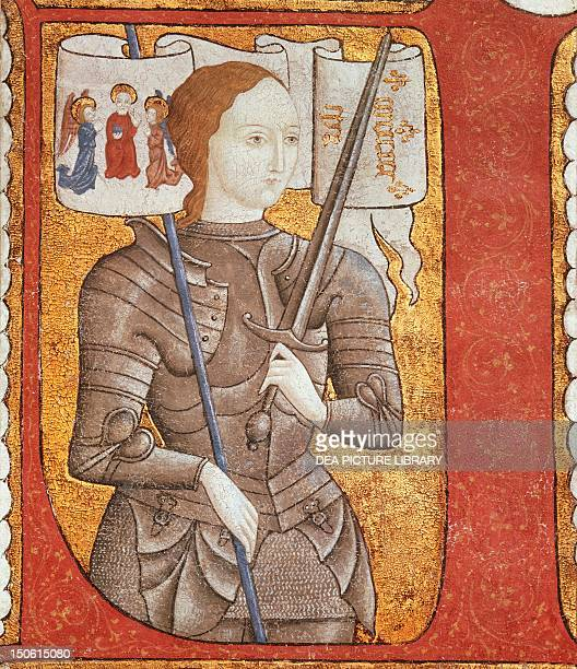Joan of Arc in a French miniature 15th century