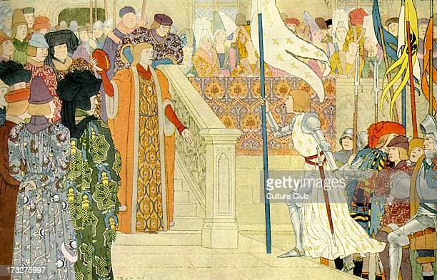 Joan of Arc is received by Charles VII of France At Chinon Joan attempted to take Charles VII to Rheims to be crowned but he refused On 12 June 1429...