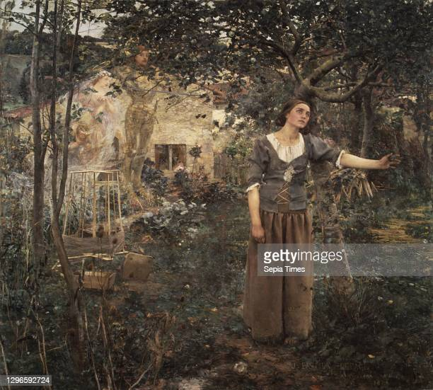 Joan of Arc Oil on canvas, 100 x 110 in. , Paintings, Jules Bastien-Lepage , Joan of Arc, the medieval teenaged martyr from the province of Lorraine,...